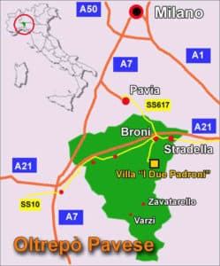 milan wine region location map