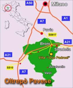 milan wine region location map