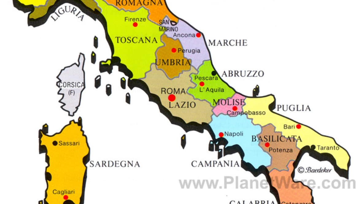 Italy Map Made Easy - Which region is where? Learn how to remember it.