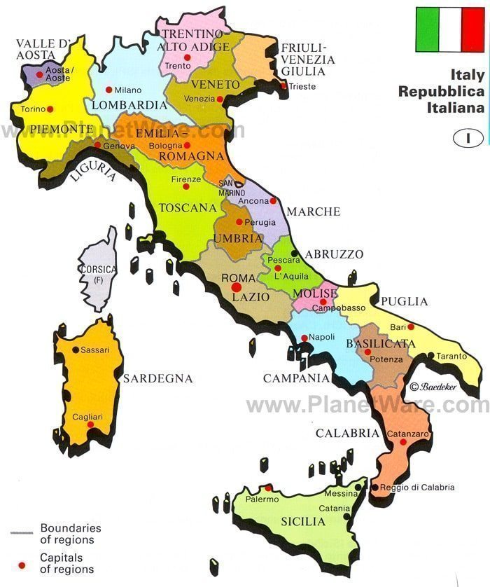 Italy Map Made Easy Which region is where Learn how to remember it